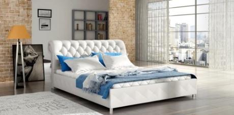 Nowoczesne łóżko Tapicerowane Mk Foam 81206