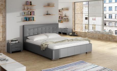 łóżko Eleganckie Tapicerowane 80209